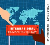global human rights day concept ... | Shutterstock .eps vector #1248914824