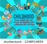 childhood concept banner.... | Shutterstock .eps vector #1248914854