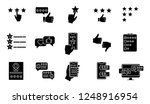 rating glyph icons set.... | Shutterstock .eps vector #1248916954