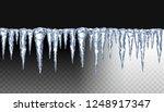 realistic 3d icicles. snow cap  ...   Shutterstock .eps vector #1248917347