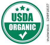 Usda organic vector icon on white background