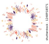 cute and elegant vector floral... | Shutterstock .eps vector #1248918571