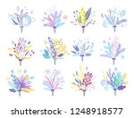 cute and elegant vector floral... | Shutterstock .eps vector #1248918577