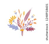 cute and elegant vector floral... | Shutterstock .eps vector #1248918601