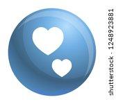 heart shape icon. simple... | Shutterstock .eps vector #1248923881