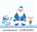 new year greeting card template.... | Shutterstock .eps vector #1248932491