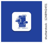 blue round button for bullhorn  ... | Shutterstock .eps vector #1248942451
