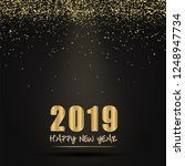 2019 happy new year card design.... | Shutterstock .eps vector #1248947734