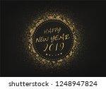 2019 happy new year card design.... | Shutterstock .eps vector #1248947824