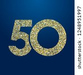 50 th years old logotype.... | Shutterstock .eps vector #1248951997