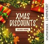 christmas sale web banner....   Shutterstock .eps vector #1248965287
