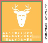 christmas reindeer solid icon... | Shutterstock .eps vector #1248967744