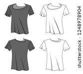 t shirt man template  front ...   Shutterstock . vector #1248978904