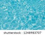 blue water ripple reflection in ... | Shutterstock . vector #1248983707
