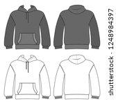 hoodie man template  front ... | Shutterstock . vector #1248984397