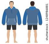 fashion man body full length... | Shutterstock . vector #1248986881