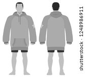 fashion man body full length... | Shutterstock . vector #1248986911