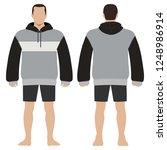 fashion man body full length... | Shutterstock . vector #1248986914