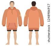 fashion man body full length... | Shutterstock . vector #1248986917