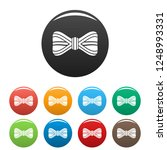 line bow tie icons set 9 color... | Shutterstock .eps vector #1248993331