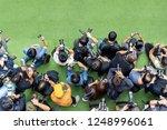 top view of photographer work...   Shutterstock . vector #1248996061