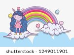 girl fantastic creature in the... | Shutterstock .eps vector #1249011901