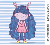 girl fantastic creature with... | Shutterstock .eps vector #1249011907
