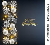 merry christmas happy new year... | Shutterstock .eps vector #1249028371