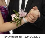 close up image of pink corsage...