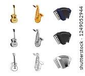 vector illustration of music... | Shutterstock .eps vector #1249052944