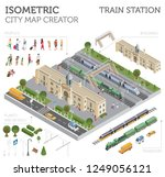 3d isometric train station and... | Shutterstock .eps vector #1249056121