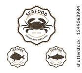 seafood logo vintage | Shutterstock .eps vector #1249063984