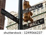 usa   nyc   street signs on... | Shutterstock . vector #1249066237