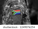 flag of south africa on... | Shutterstock . vector #1249076254