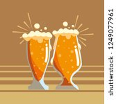 beer glasses design | Shutterstock .eps vector #1249077961