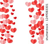 hearts confetti falling... | Shutterstock .eps vector #1249083301