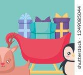 gift box design | Shutterstock .eps vector #1249085044