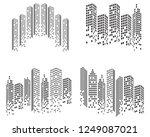 modern city skyline . city... | Shutterstock .eps vector #1249087021