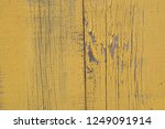 old obsolete yellow painted... | Shutterstock . vector #1249091914