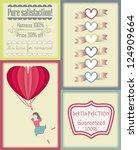 vintage colorful valentine's...   Shutterstock .eps vector #124909664