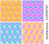 seamless pattern. vector...   Shutterstock .eps vector #124909787