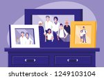 portrait with family members...   Shutterstock .eps vector #1249103104