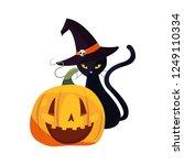 happy halloween celebration | Shutterstock .eps vector #1249110334