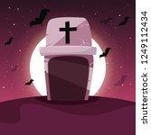happy halloween celebration.... | Shutterstock .eps vector #1249112434