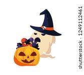 happy halloween celebration.... | Shutterstock .eps vector #1249112461