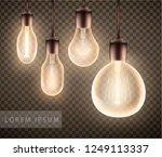 figure set of a luminous light...   Shutterstock .eps vector #1249113337