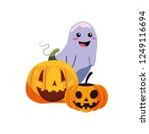 happy halloween celebration | Shutterstock .eps vector #1249116694