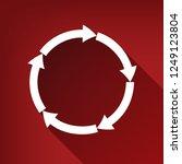 circular arrows sign. vector.... | Shutterstock .eps vector #1249123804
