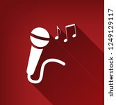 microphone sign with music... | Shutterstock .eps vector #1249129117