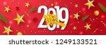 2019 happy new year. universal... | Shutterstock .eps vector #1249133521